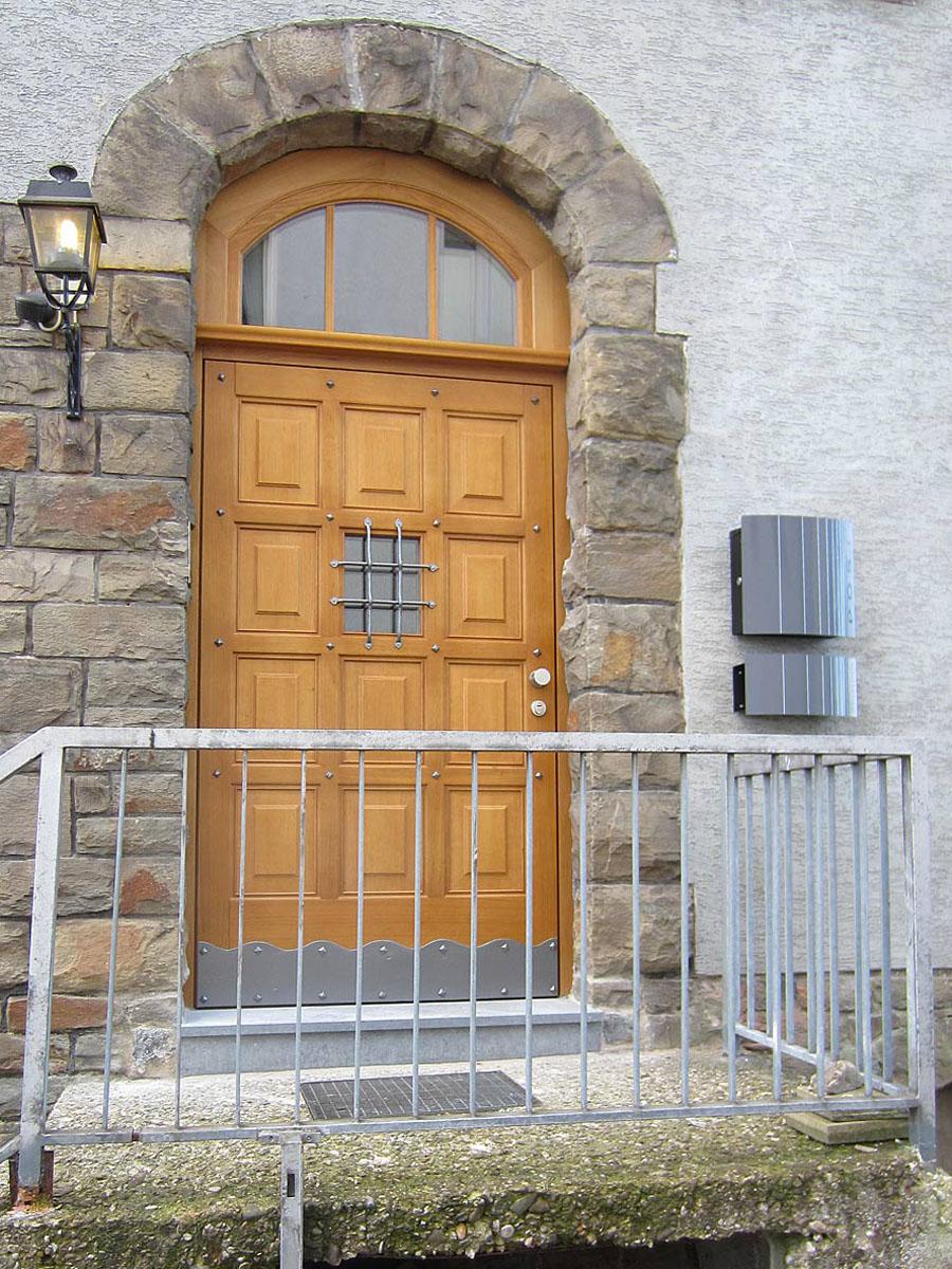 Neue Haustr Nach Altem Vorbild Holzcoop Innenausbau